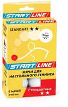 Мячи белые 6 шт Start Line Standart 2*