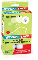 Мячи (6 мячей в упаковке, белые) Start Line Club Select 1*