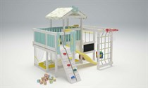 Игровой комплекс - кровать с высокой горкой Савушка Baby 8 СБ-08