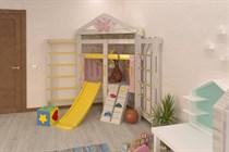 Угловой игровой комплекс с шведской стенкой Савушка Baby 9 СБ-09
