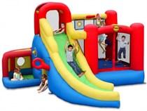 Надувной батут с горкой Happy Hop Игровой центр 11 в 1