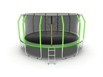 Батут с внешней сеткой и лестницей EVO Jump Cosmo 16ft (Green)