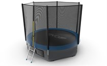 Батут с верхней и нижней сеткой Evo Jump External 10ft Lower net Blue