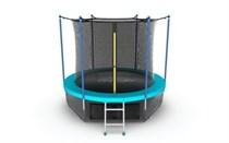 Батут с внутренней сеткой и лестницей EVO Jump Internal 10ft (морская волна) + нижняя сеть