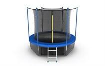 Батут с внутренней сеткой и лестницей EVO Jump Internal 8ft (синий) + нижняя сеть