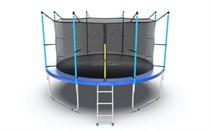 Батут с внешней сеткой и лестницей Evo Jump Internal 12ft Blue