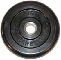 Диск обрезиненный MB Barbell MB-PltB26-2,5