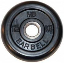 Диск обрезиненный MB Barbell MB-PltB26-1,25