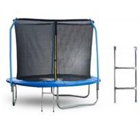 Start Line Батут 8 футов (244 см) с внутренней сеткой, держателями и лестницей