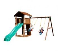 Детский городок Jungle Gym Cottage+Swingmodule xtra+Rockmodule