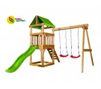 Детская игровая площадка Babygarden Play 1 светло-зеленая