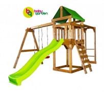 Детская игровая площадка Babygarden Play 4 светло-зеленая