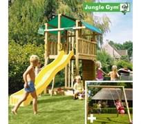 Детский городок Jungle Gym Fort + SwingModule Xtra