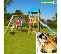 Детский городок Jungle Gym Castle + SwingModule Xtra + RockModule
