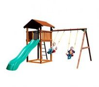 Детский городок Jungle Gym Cottage+Swing Module Xtra