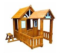 Детский домик Можга Солнечный Р910 с верандой