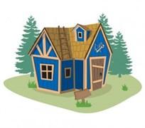 Лесной домик для детей Crooked