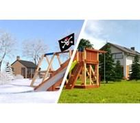 Детская деревянная площадка Савушка 4 сезона - 1