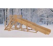 Зимняя деревянная горка MoyDvor Снежинка 1