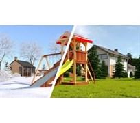 Детская деревянная площадка Савушка 4 сезона - 2