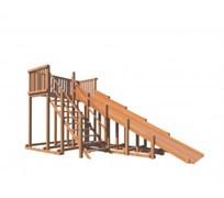 Детские деревянные зимние горки Snow Fox, скат 5,9 м