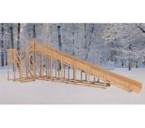 Зимняя деревянная горка MoyDvor Снежинка 3