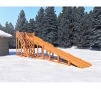 Детские деревянные зимние горки Snow Fox, скат 10 м