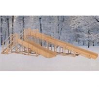 Зимняя деревянная горка MoyDvor Снежинка 4